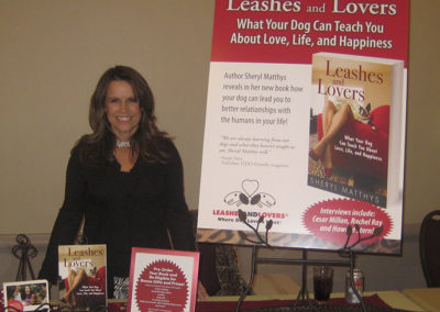 Leashes and Lovers book signing at Pet Fashion Week in NYC