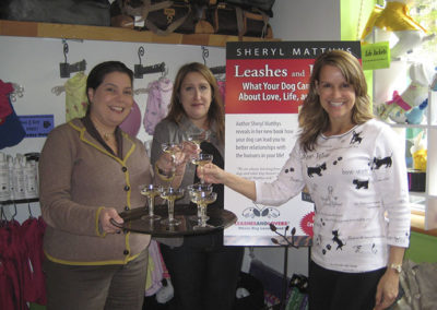 Sheryl Matthys book signing in NYC Pet Store
