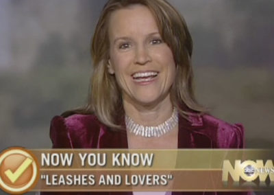 Sheryl Matthys on ABC News Now for the launch of her book, Leashes and Lovers